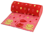 Strawberry Farms Reversible Baby Burp Cloth and Change Pad 2 in 1 Pink Frogs 29 Inches