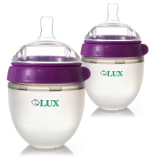 LUX Nature Baby Newborn Bottle Gift Set | Anti Colic Infant Bottle | Silicone Breastfeeding Baby Bottle | Nursing Bottle | BPA Free | No Leaking| by LUX