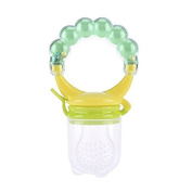 TTKB.HH Green S Baby Infant Food Fruit Feeder Silicone Pacifier Soother Nipples Boy Girl Child