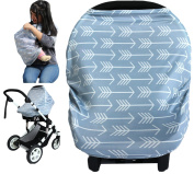 Summer Cool Stretchy Baby Car Seat Cover Canopy Nursing And Breastfeeding Cover