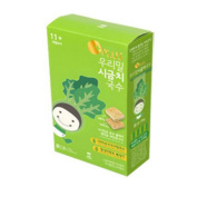 "11cm Our Wheat Baby ""Spinach"" Noodles (8 Servings), 296g, 0.65 lb / Baby Food / KOREA Baby Food / Baby Snacks / Healthy Food / Children, Kids, Baby Food / Noodles / Fast Cooking / MGS No."