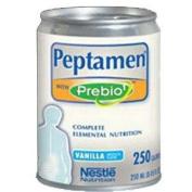 Nestle Peptamen® Nutritional Vanilla Liquid with Prebio1™ Fibre 250mL, 250 Cal