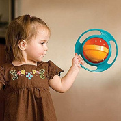 Spill-Resistant Gyro Snack Bowl For Baby | 360 Degree Rotation & A Lid For The Toddler On The Go | Revolutionary No Mess Baby Bubble Bobble Bowl A Fun Gift For Kids of all Ages!