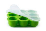 BabyBliss Eco Friendly Silicone Baby Food Freezer Storage Tray | 9 Large Cups (70ml) | Clip-On Silicone Lid | Toxin and BPA Free & FDA Approved | Oven and Dishwasher Safe