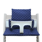 Blausberg Baby - Cushion Set for Tripp Trapp High Chair of Stokke - Blue Star