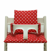 Blausberg Baby - Coated Cushion for Tripp Trapp High Chair of Stokke - Red Dots