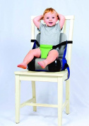 Booster 2 in 1 - Portable Booster Seat Feeding Chair and Storage Bin Blue
