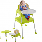 Baby High Chair Convertible Table Seat Booster Toddler Feeding Highchair