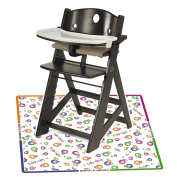 Keekaroo Height Right High Chair with Tray, Espresso with Splat Mat