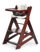 Sepnine Height Adjustable Wooden Highchair Baby High Chair with Padded Cushion 6561