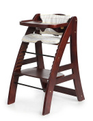 Sepnine Height Adjustable Wooden Highchair Baby High Chair with Padded Cushion 6511