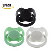 Littleforbig Bigshield GEN 2 Adult Sized Pacifier Dummy Bigshield 3 PACI PACK - Black,White,Green