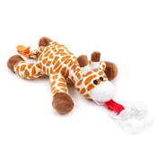 Panddy Pacifier Holder- Giraffe, soft plush animal,
