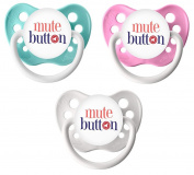 Ulubulu Classic Expression Pacifier - 0-6 Months - 3 Pack - Mute Button