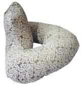 The 4 in 1 One Z Grey Damask Nursing Pillow w/ AMAZING BACK SUPPORT- Grey Lattice