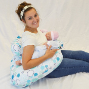 Twin Z Pillow + 1 Designer Blue Whimsy Cover + FREE Travel Bag!