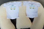 Twin Gift Set - Twin Z Pillow + 1 Cream Cover + 2 Fun One Pieces + Travel Bag