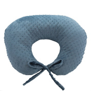 My Blankee Nursing Pillow with Minky Dot Slipcover, Periwinkle, Small/Medium