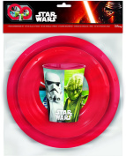 Official Star Wars 3 Piece Dinner Meal Picnic Set - Plate, Bowl & Cup