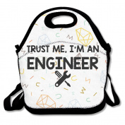 I Am An Engineer Lunch Bag Cool Lunch Carry Bag Black For YOU