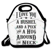 I Love You A Bushel And A Peck Lunch Bag Special Bayfield Bags Black For YOU
