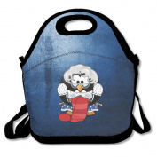 Penguin Grandma Knitting Lunch Bags Cool Lunch Tote Bag Black For YOU