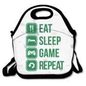 Eat Sleep Game Repeat Lunch Bag One Size