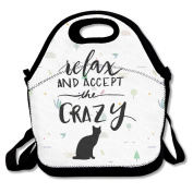 Relax And Accept The Crazy Polyester Lunch Bag