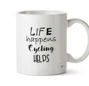 Hippowarehouse Life Happens Cycling Helps 300ml