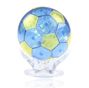 PicknBuy® 3D Crystal Puzzles Jigsaw World Cup Soccer Football Model Toys for Children Gift - Blue