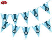 Happy Fathers Day World's Best Dad Shirt and Tie Themed Bunting Banner 15 flags for guaranteed simply . party decoration by PARTY DECOR