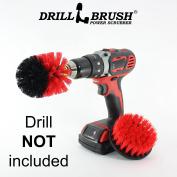 New Quick Change Shaft Drill Powered Heavy Duty Outdoor Stiff Bristle Scrub Brush Kit by Drillbrush