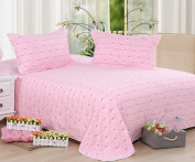 Cotton Towels Are Single Double Blanket Thickening Children Nursery Blankets Blank Blanket Spring And Summer Models,Pink-180cm *220cm