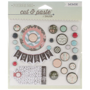 Cut & Paste Flair Decorative Brads 24/Pkg-Small