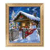 Techinal DIY 5D Diamond Painting Christmas Snowman Embroidery Cross Stitch Home Decor