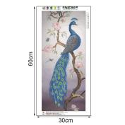 OHTOP DIY 5D Peacock Diamond Embroidery Painting Cross Stitch Art Craft Home Decor