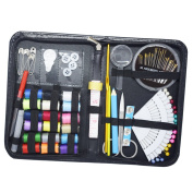 Sewing Kit Bundle with Scissors, Pearl Needle, Thread, Needles, Tape Measure, Carrying Case and Accessories for Domestic/Travel