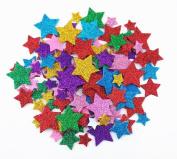 Honbay 200pcs Colourful Self Adhesive Star Shape Foam Glitter Stickers
