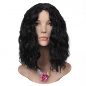 ColorGround Women's Fashion Middle Parted Medium Curly Wig