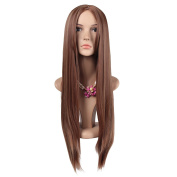 ColorGround Long Straight Mixed Colour Wig for Women