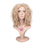 ColorGround Afro Medium Kinky Curly Wig For Black Women