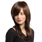 Panda Hair Long Layered Ombre Colour Synthetic Wig for Women