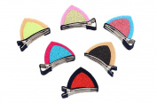 12Pcs/6Pairs Cute Cat Ear Hairpins Hair Barrettes Clips for Baby Kids Toddler Girls