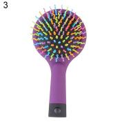 Bluelans Detangling Brush with Mirror - Detangler Hair Comb or Brush - No More Tangle - Wet & Dry Detangle Comb - Adults & Kids