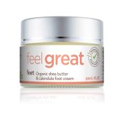 Healtop Feet Natural Organic Shea Butter & Calendula Foot Cream 1 FL OZ (30 ml) Paraben Free, SLS Free, Chemical Free