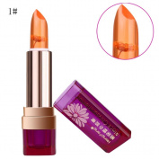 Luversco Long Lasting Lip Gloss Colour Changing Flower Jelly Beauty Lipstick Moisturising (Red