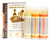 Sparkling Wines Lip Balm Set - All Natural - Includes 3 Wine Flavours