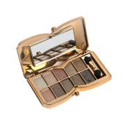 Matte Eyeshadow , Hunzed Women 10 Colours Shimmer Eyeshadow Palette Cosmetic Eye Shadow Powder Makeup Kit
