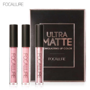New Fashion Lipstick, Hunzed Women Matte Lip Gloss Lipstick Sexy Lip Metallic Lip Gloss Kit Cosmetic Beauty Makeup