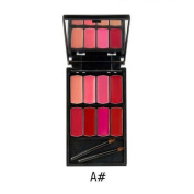New Fashion Lipstick, Hunzed Women 8 Colours Lip Gloss Lipstick Long Lasting Lips Palette Cosmetic Beauty Makeup